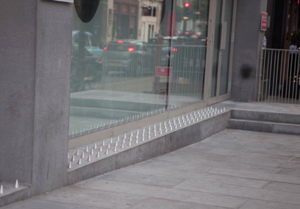 Artists got fed up with these 'anti-homeless spikes.' So they made them a bit more ... comfy.