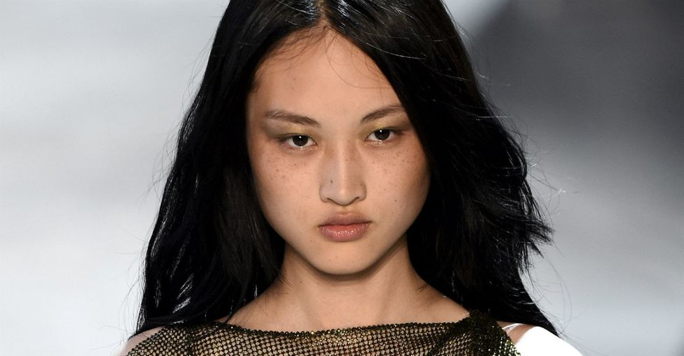 This Chinese model is getting publicly shamed for her freckles in a new untouched Zara ad.