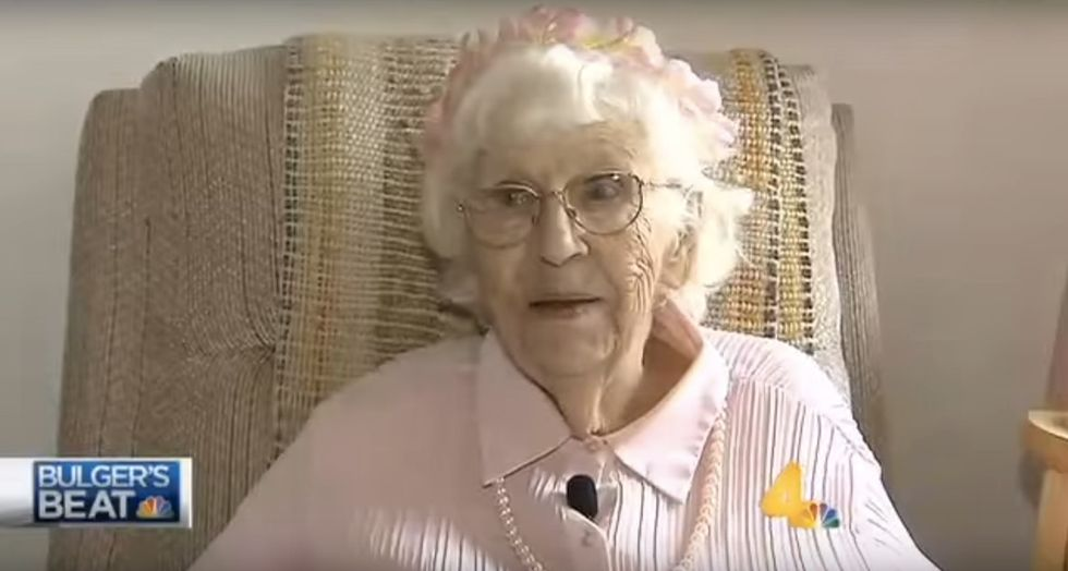 This 94-year-old's last bucket list item was 5 seconds on TV to say 3 words.