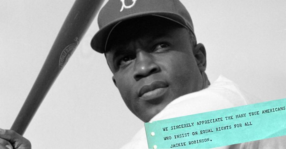 The next time you think your voice doesn't count, look back on this telegram from Jackie Robinson.