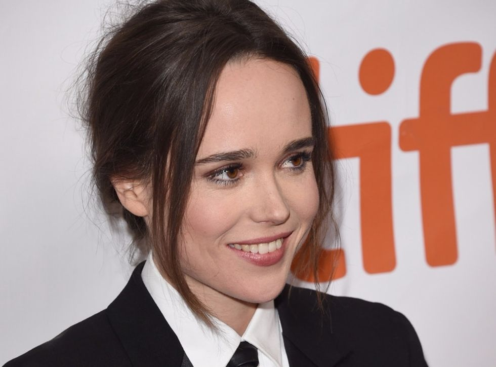 Her girlfriend at her side, Ellen Page attended the premiere of her film, 'Freeheld.'