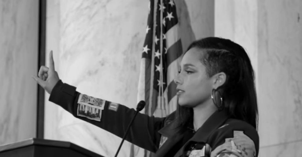 Alicia Keys released a beautiful video to get 1 million signatures for prison reform.
