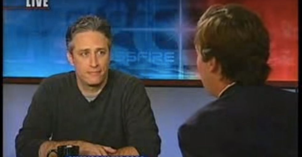 Jon Stewart's best moment wasn't on 'The Daily Show.' It was the day he eviscerated CNN.