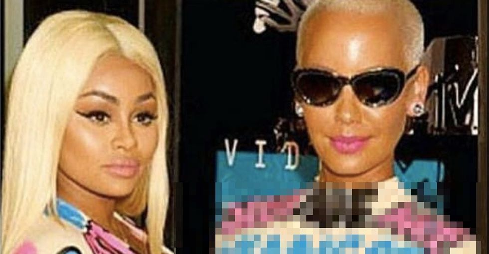 Amber Rose and Blac Chyna confronted their critics in a big way at the VMAs using their dresses.