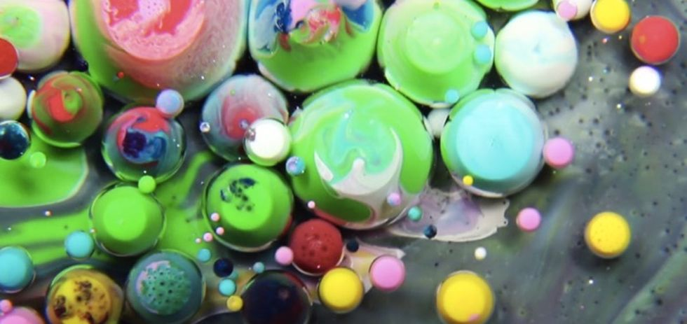 What color is love? An artist used milk and paint to make a beautiful guess.
