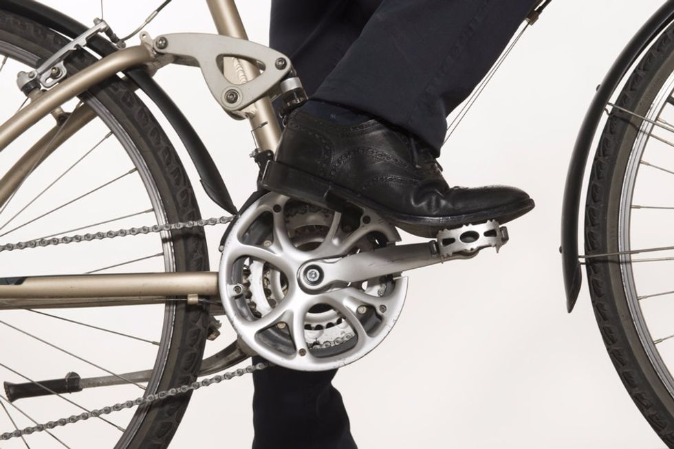 Check out these under-the-desk bike pedals, the newest tactic for surviving office life.