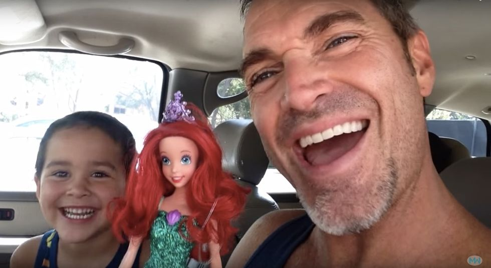 This dad knew exactly what to say when his son asked for a mermaid doll for his birthday.