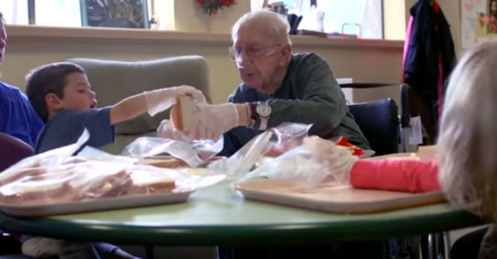 Kids and the elderly go together like peanut butter and jelly! Some nursing homes are catching on.