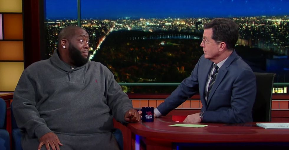 When Stephen Colbert and Killer Mike spoke for their entire races, the talk got real.