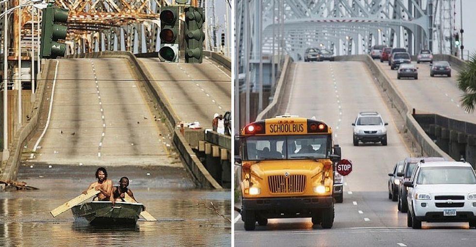 Stunning photos capture 10 years of Hurricane Katrina recovery.