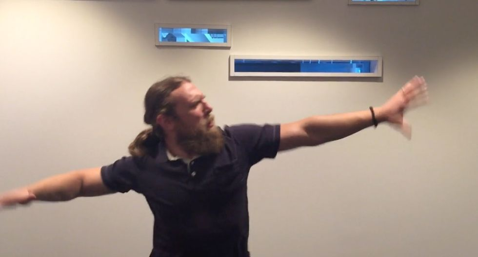 This WWE superstar just danced to 'I'm Too Sexy' in the name of cancer research. It was perfect.