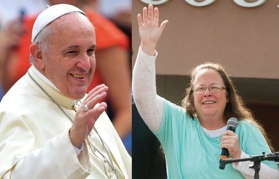 What we can learn from what Kim Davis and the Pope did this week