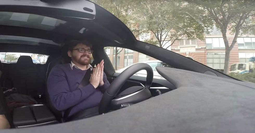 A writer tried Tesla's new autopilot car, and his reactions were priceless.
