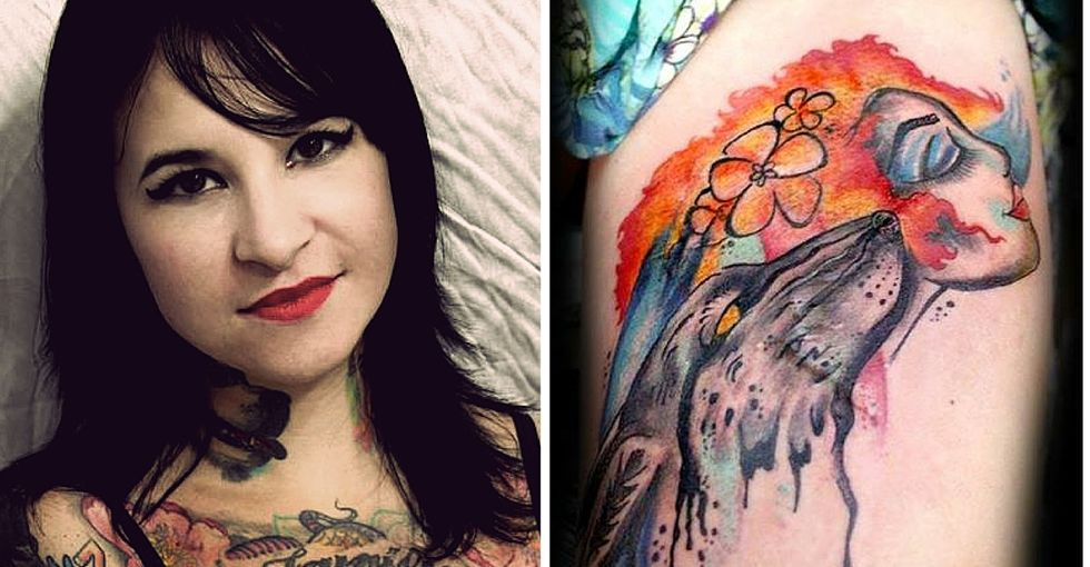 See the moving before-and-after photos of painful scars turned into art.