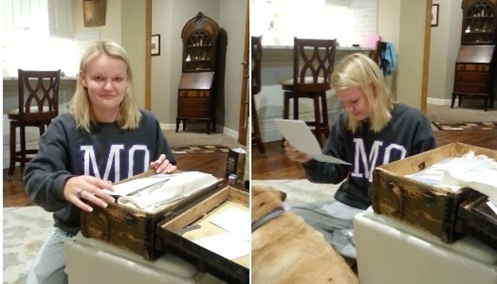 In 1999, everyone in her family wrote her a letter. 17 years later, she finally read them.