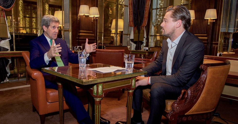 Why I'm loving that John Kerry and Leonardo DiCaprio hung out in Paris together.