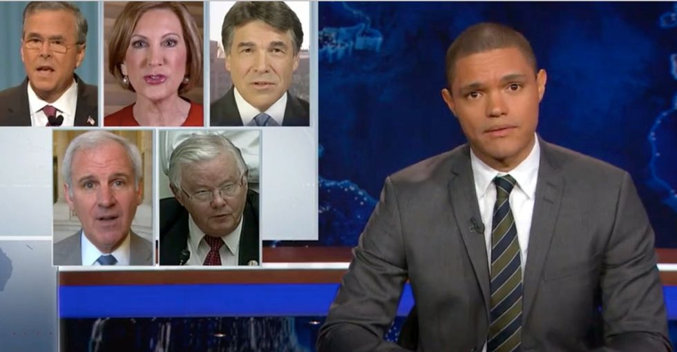 Trevor Noah points out the hypocrisy of being pro-life and anti-gun-control.
