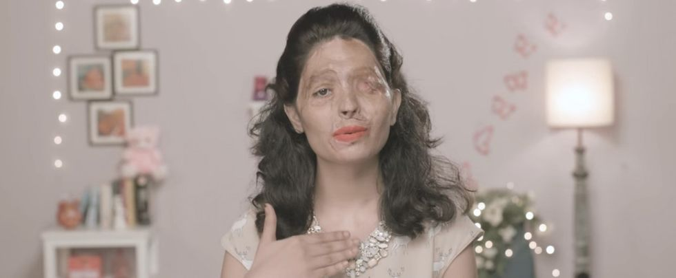 She survived an acid attack. Now her makeup tutorials are turning heads and raising awareness.
