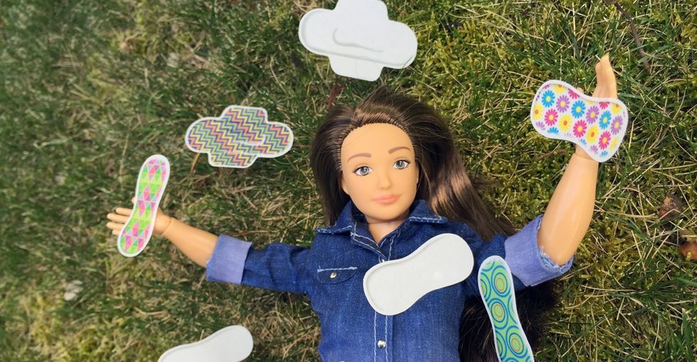 Can a child's doll get her period? Thanks to some new accessories, yep. She sure can!