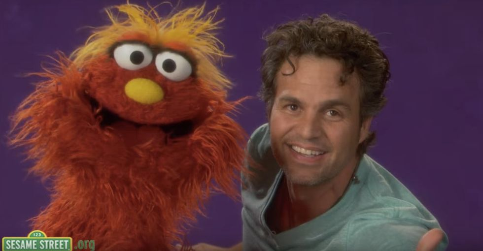 Watch Mark Ruffalo explain empathy perfectly on 'Sesame Street.'