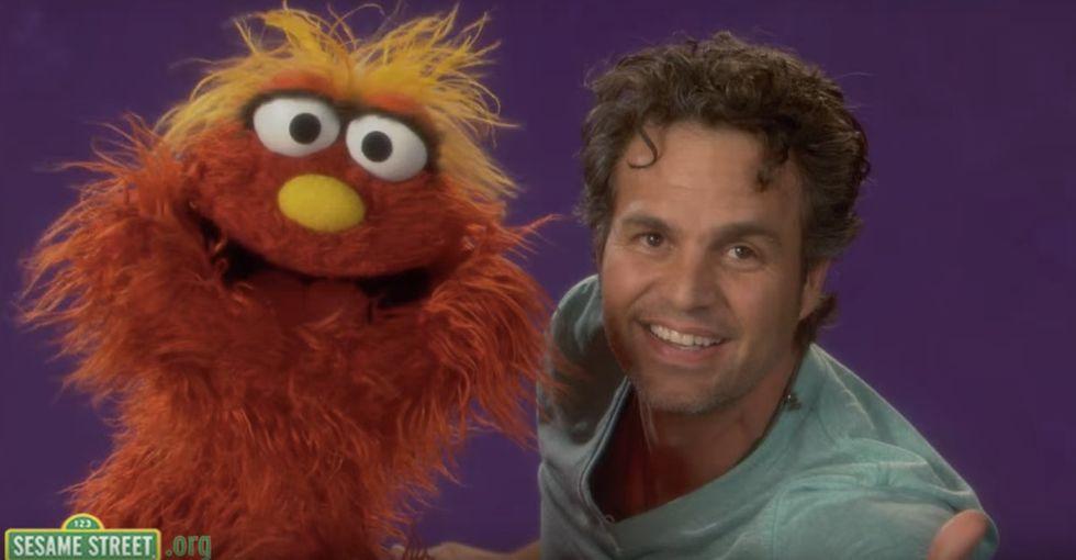 Watch Mark Ruffalo explain empathy perfectly on 'Sesame Street.'