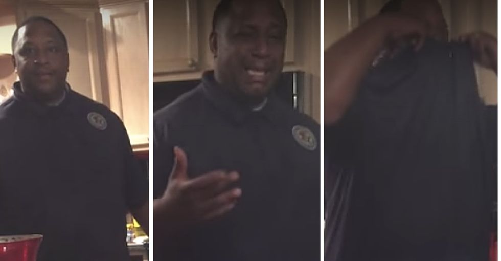 This soon-to-be dad had a heartwarming reaction to a pregnancy announcement 17 years in the making.