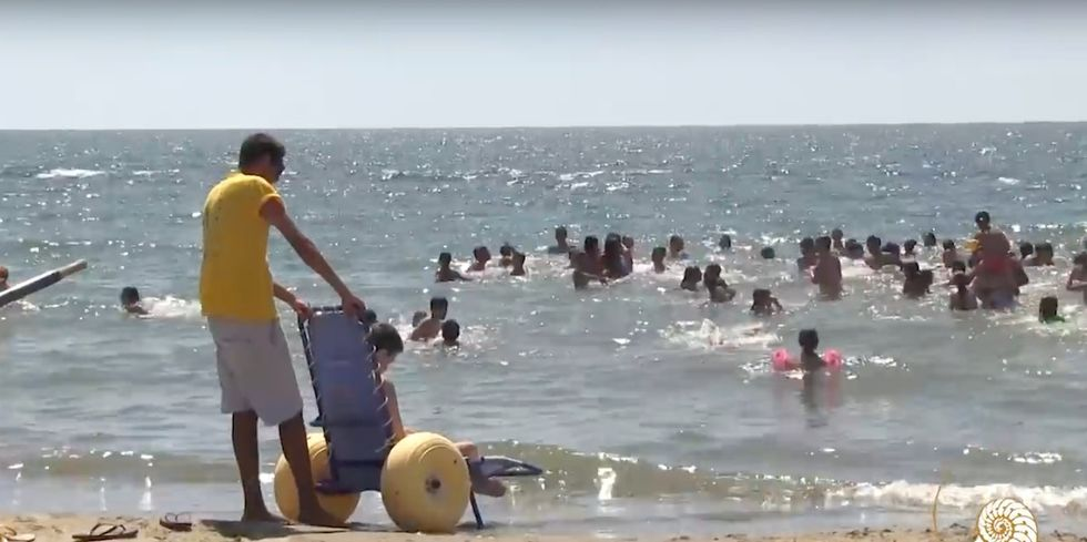 This charity that runs a beach for the disabled got a surprise donor: the pope.