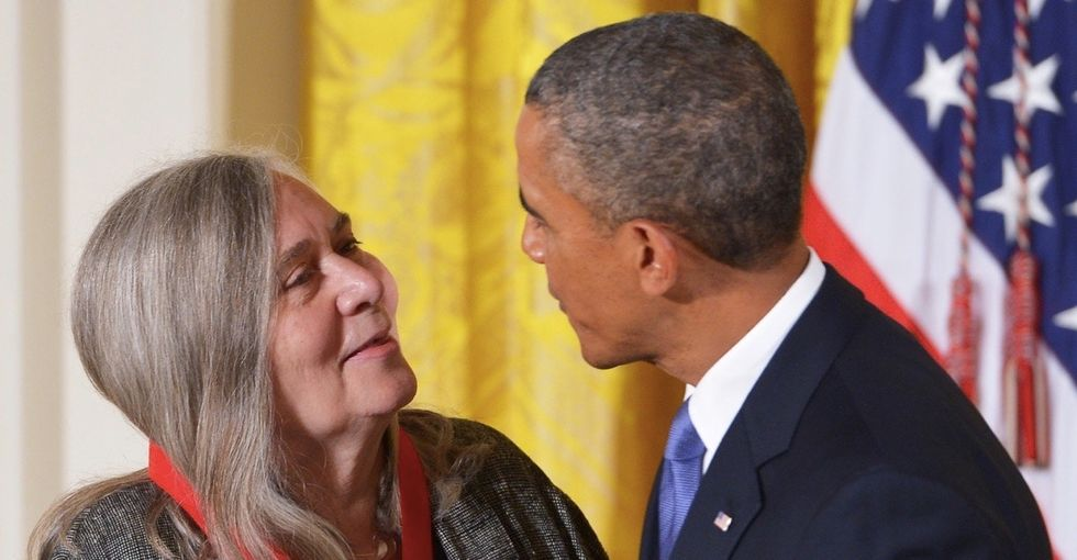 The president interviewed iconic writer Marilynne Robinson. But one of the best quotes was his.