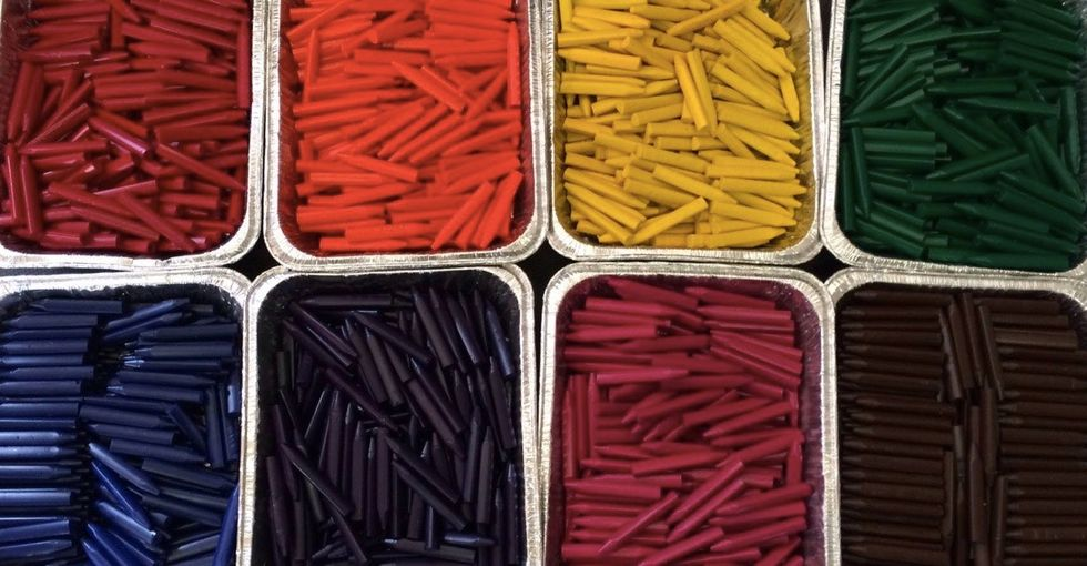 What happens to restaurant crayons? This dad found out and decided to do something about it.