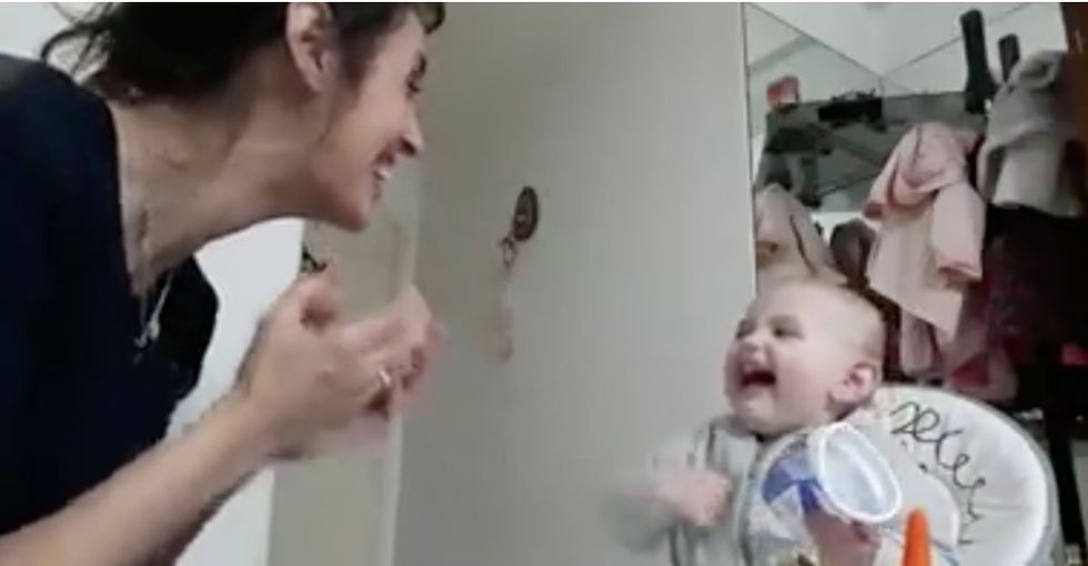 This viral video is the universal dose of baby joy magic we all need right now.