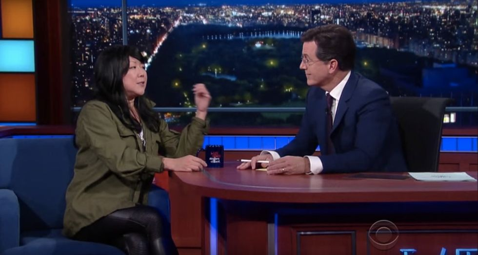 Margaret Cho challenges political correctness in her can't-miss interview with Stephen Colbert.