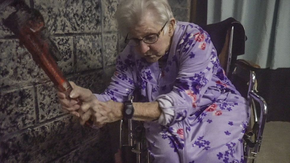America is falling in love with this adorable haunted house grandma.