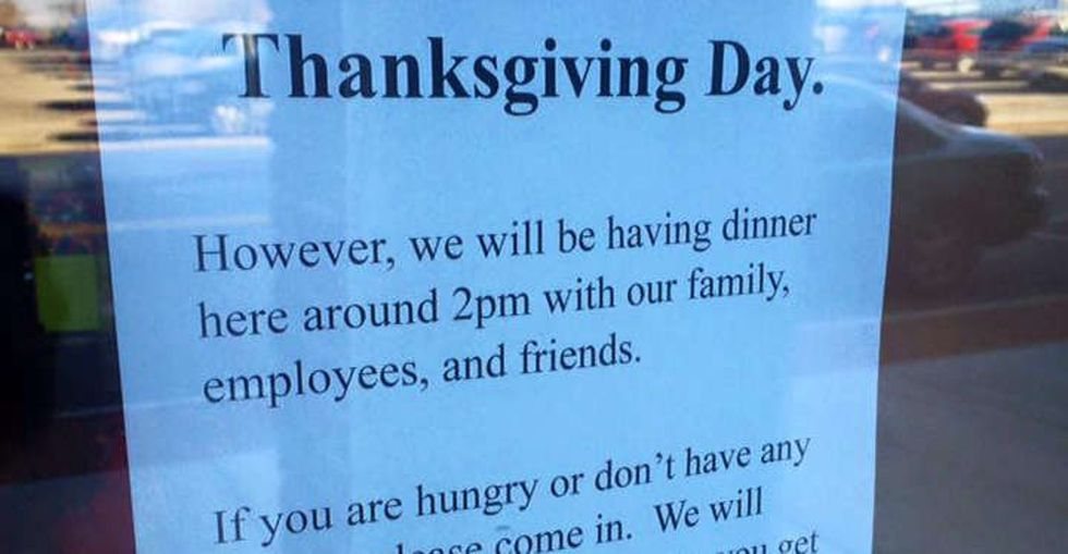 Why a pizza shop in Ohio is throwing a free Thanksgiving dinner for the homeless.