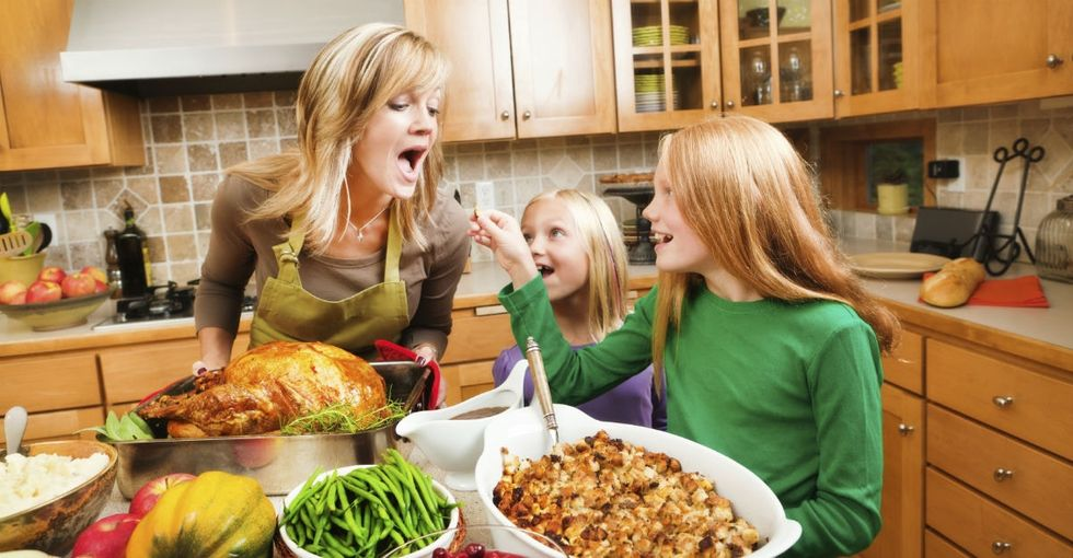 How we celebrate Thanksgiving, as told by 12 absurd stock photos.