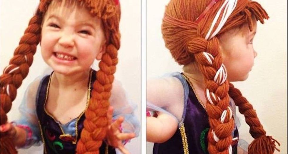A nurse makes wigs for kids with cancer, and they've got a special twist.