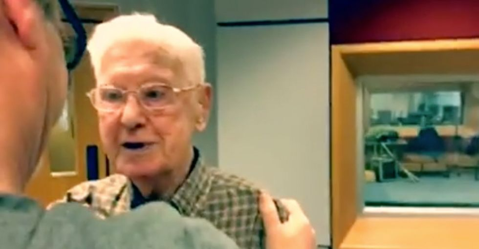 A 95-year-old  who missed his wife called a radio station and was invited to visit. Tears alert!