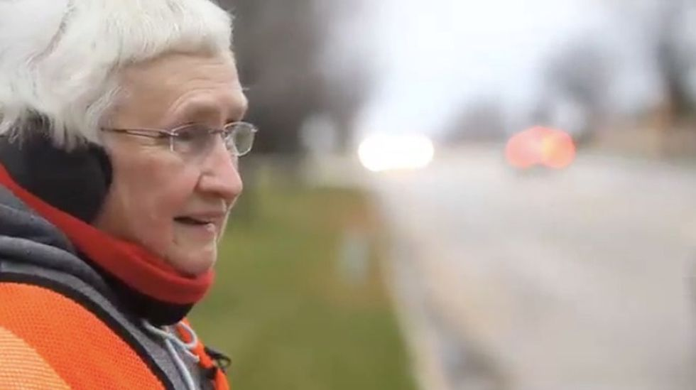 This lovable grandma turned her daily 3-mile walk into a personal crusade against litter.