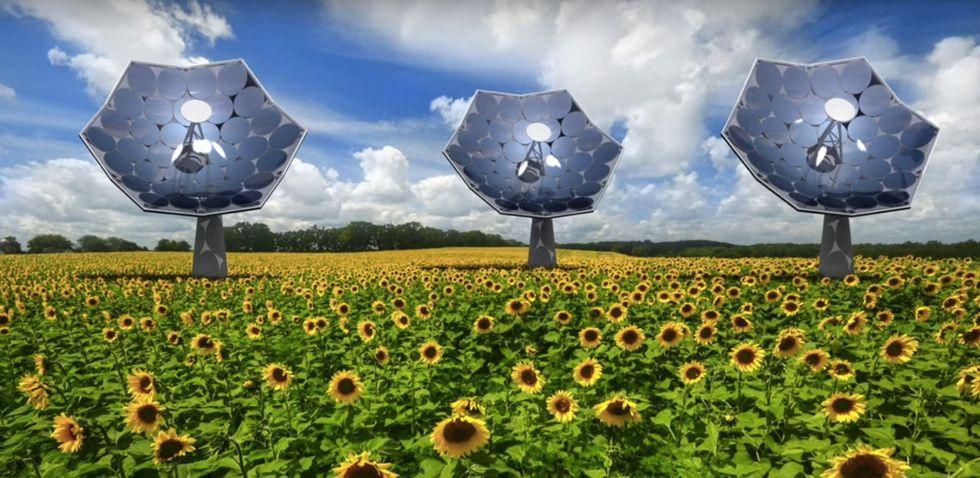 It's 4 times better than standard solar setups and it looks freakin' cool: Meet the Solar Sunflower.