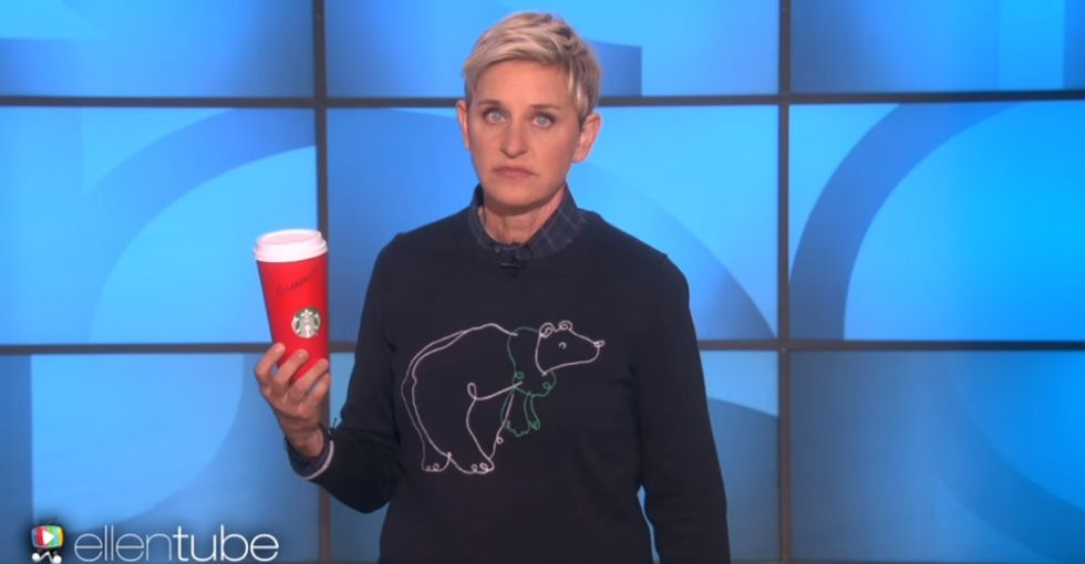 Ellen DeGeneres weighed in on the Starbucks cup controversy. And yes, she nailed it.