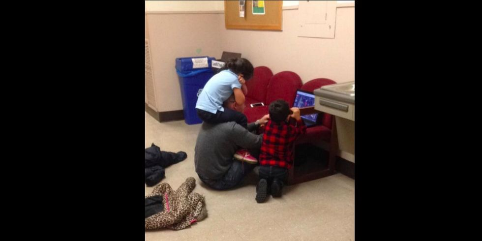 One photo captures the power of a teacher's support — and it's making the rounds.
