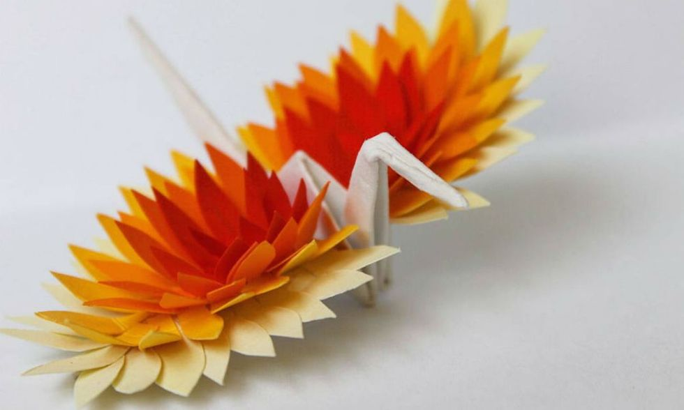 Check out one guy's daily journal made entirely of paper cranes.