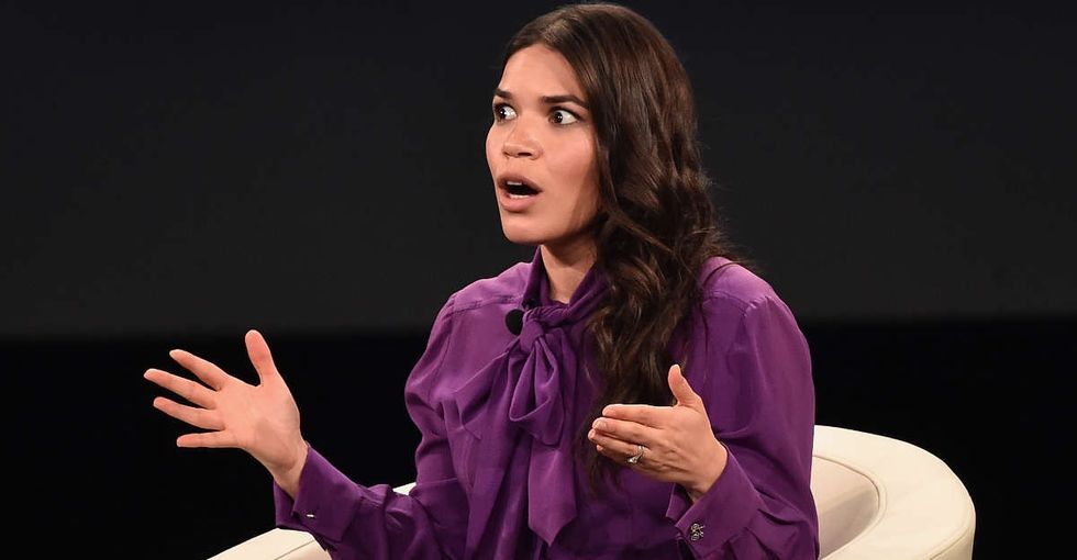 America Ferrera shut down an interviewer who thought he knew who she was voting for.