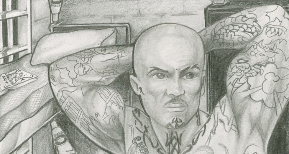 6 beautiful drawings by LGBTQ inmates that illustrate life in prison.