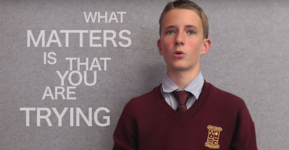 Meet the student fighting for his country's native language. He's great.