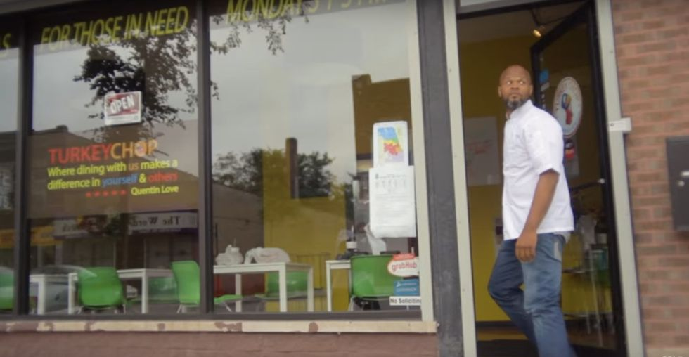 A selfless chef won a reality game show and used the prize money to feed his community.
