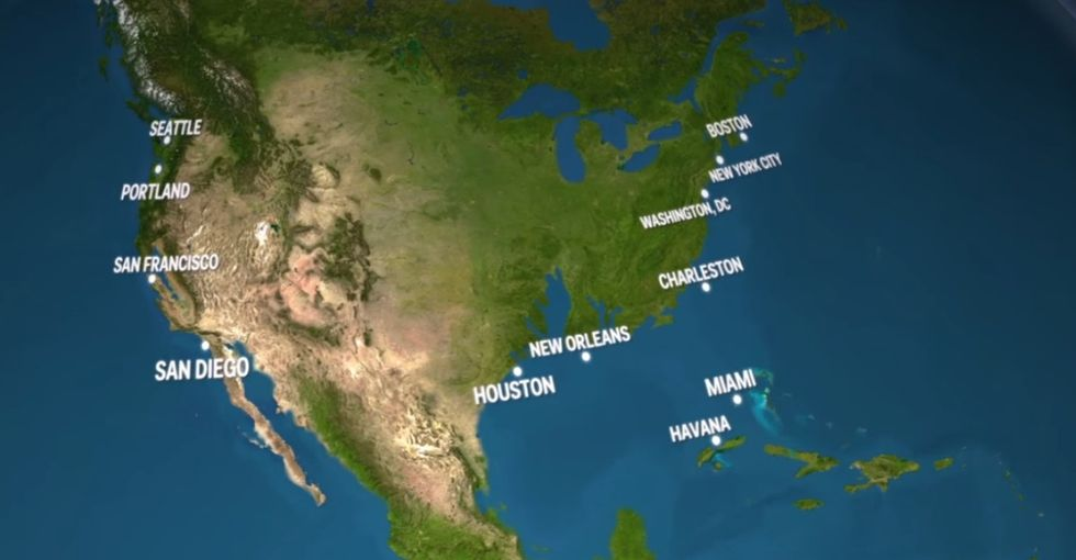What will Earth look like if all its land ice melts? Here's your answer.