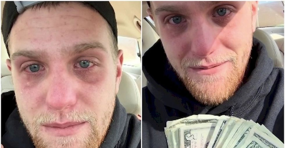 A $700 tip? This pizza delivery driver got it just when he needed it most.