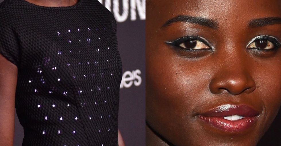 Lupita Nyong'o wore a light-up dress programmed by young women, and it was stunning.