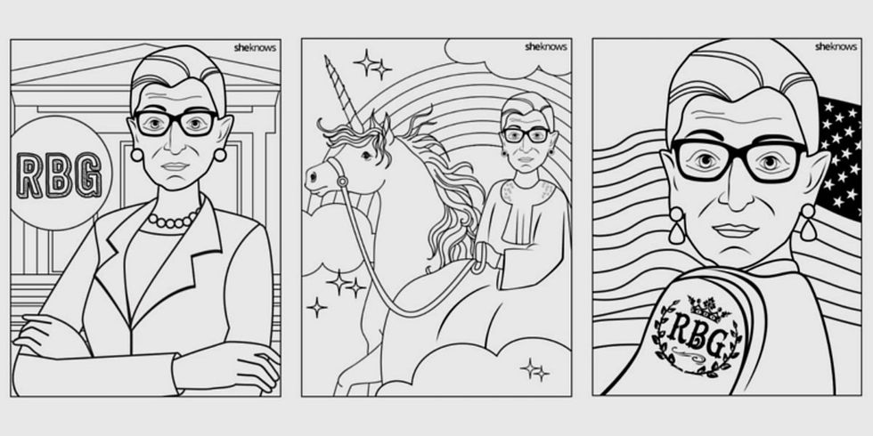 There's a Ruth Bader Ginsburg coloring book for those who want to color outside the lines.