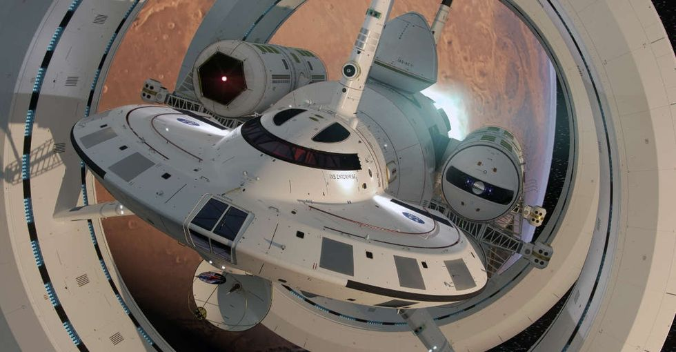 A NASA scientist designed a ship that could theoretically travel at 'Star Trek' speeds.
